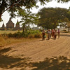 On the Roads of Old Bagan - The plain of Bagan is interlaced with a network of ancient dusty roads used both by tourists visiting ruined temples and residents going to work, market and school.