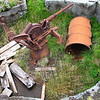 Silent guns at Kiska - What is left of a Japanese anti-aircraft gun emplacement sits atop one of the highest hills of Kiska. It once defended the island from American bombing attacks.
